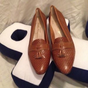 Salvatore Ferragamo braided leather shoes 9.5 AAA